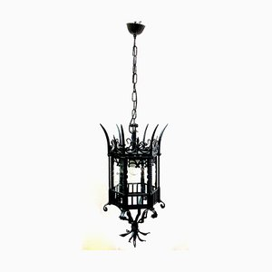 Lámpara colgante vintage de hierro, años 60