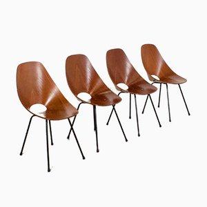 Medea Esszimmerstühle von Vittorio Nobili für Tagliabue, 1950er, 4er Set