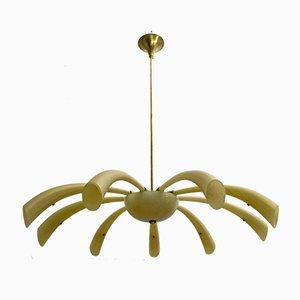 Lámpara de araña Fireworks de cristal de Murano de Angelo Barovier de Barovier & Toso, 1958