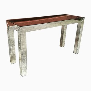 Italian Mirrored Hall Console Table, 1970s