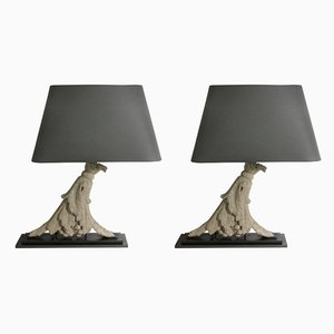 Vintage Table Lamps, 1920s, Set of 2