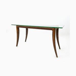 Tavolino da caffè rettangolare in acero e palissandro di Osvaldo Borsani, Italia, anni '40