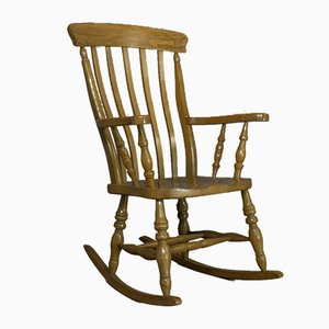 Vintage Beech Windsor Rocking Chair