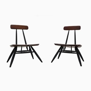 Pirkka Stühle von Ilmari Tapiovaara für Laukaan Puu, 1950er, 2er Set