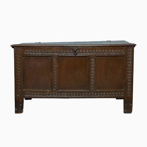 Antique English Oak Trunk