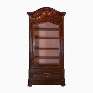 Antique Victorian Mahogany Vitrine Cabinet