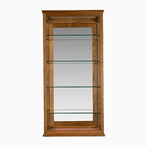 Antique English Oak Display Cabinet