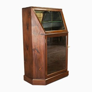 Antique Edwardian English Mahogany Display Cabinet