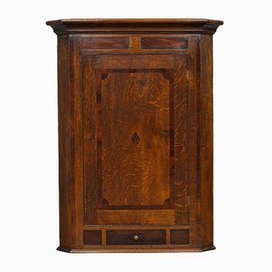 Antique Georgian English Oak Corner Cabinet