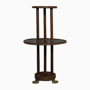 Antique Victorian English Mahogany Tiered Side Table