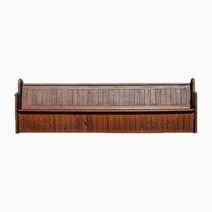 Antique English Pitch Pine Bench