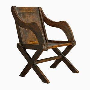 Antiker englischer Beistellstuhl aus Eiche