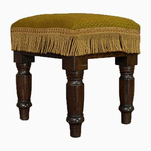 Antique Victorian English Mahogany Ottoman