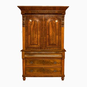 Antique Victorian Flame Mahogany Wardrobe