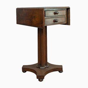 Table de Travail Victorienne Antique en Acajou, Angleterre