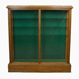 Antique Victorian English Ash Display Cabinet