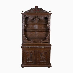 Antique French Carved Oak Buffet