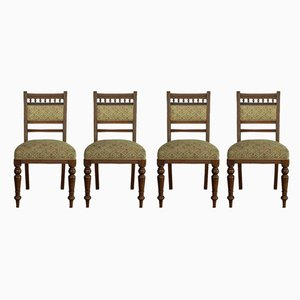 Antique Edwardian Mahogany Dining Chairs, Set of 4