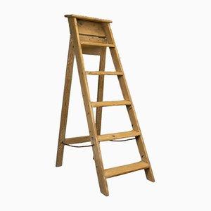 Antique Victorian English Pine Ladder