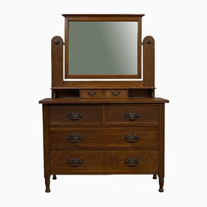Antique Edwardian Oak Dressing Table from Ray and Miles