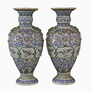 Large Ceramic Vases, 1960s, Set of 2