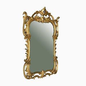 Antiker englischer Spiegel mit Rahmen aus vergoldetem Gesso im viktorianischen Stil