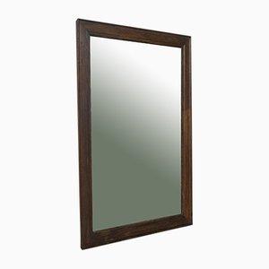 Antiker englischer Spiegel mit Rahmen aus Eiche im viktorianischen Stil