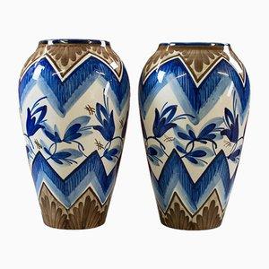 Englische Vintage Keramikvasen, 2er Set