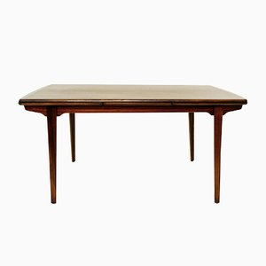 Vintage Extendable Rosewood Dining Table by Kai Kristiansen