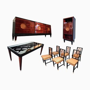 Rosewood Dining Room Set by Paolo Buffa, 1950s