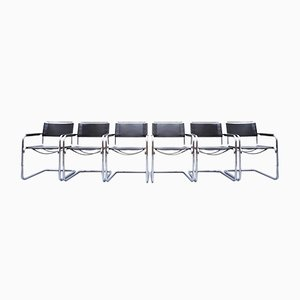 S34 Dining Chairs by Mart Stam & Marcel Breuer for Thonet, 1980s, Set of 6
