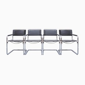 S34 Dining Chairs by Mart Stam & Marcel Breuer for Thonet, 1980s, Set of 4