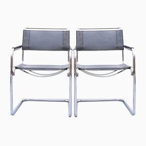 S34 Dining Chairs by Mart Stam & Marcel Breuer for Thonet, 1980s, Set of 2