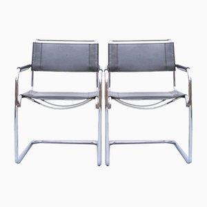S34 Esszimmerstühle von Mart Stam & Marcel Breuer für Thonet, 1980er, 2er Set