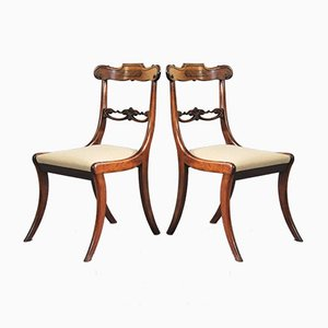 Antique Rosewood Salon Chairs, 1810s, Set of 2