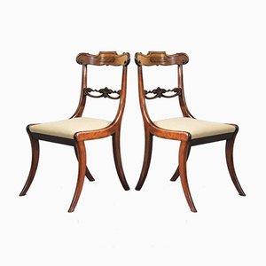 Sillas de salón antiguas de palisandro, década de 1810. Juego de 2