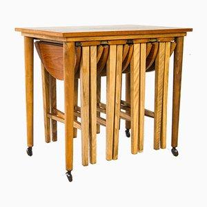Tavolini ad incastro in teak di Paul Hundevad per Novy Domov, anni '60