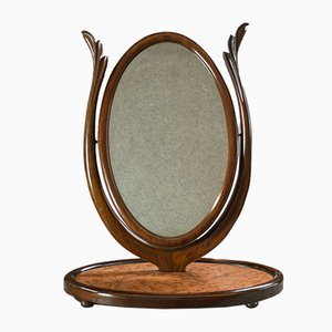 Antique Swinging Mahogany Framed Vanity Mirror