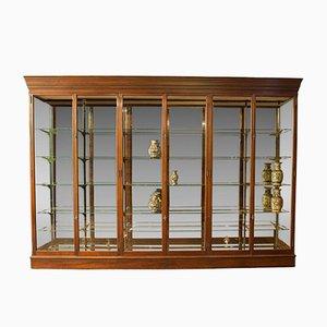 Antique Vicorian Mirror-Back Display Cabinet