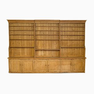 Large Antique Victorian Pine Bookcase