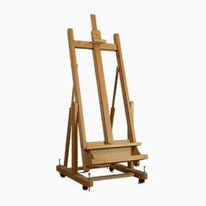 Vintage Italian Adjustable Beech Painting Easel from Mabef