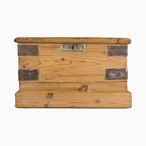Small Antique Victorian Pine Trunk