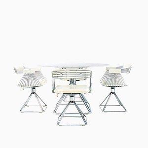 Juego de mesa de comedor y sillas vintage de Rudi Verelst para Novalux, años 70. Juego de 5