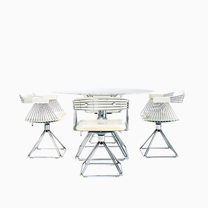Tavolo da pranzo vintage e sedie di Rudi Verelst per Novalux, anni '70, set di 5