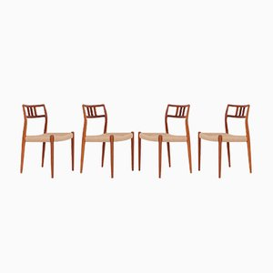 Teak JL79 Dining Chairs by Niels Otto Møller for J.L. Møllers, 1970s, Set of 4