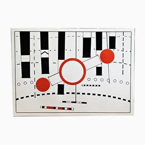 Umleitung Emaille auf Blech von Peter Brüning, 1969
