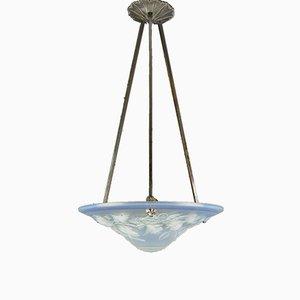Lámpara de techo de vidrio opalescente de Maynadier Pierre, años 20