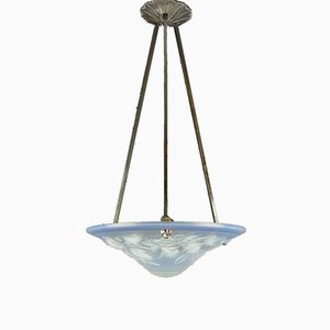 Opalescent Glass Ceiling Lamp from Maynadier Pierre, 1920s