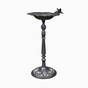 Vintage English Cast Iron Garden Bird Bath