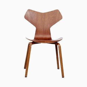 Sedia da pranzo nr. 3130 in teak di Arne Jacobsen per Fritz Hansen, anni '60